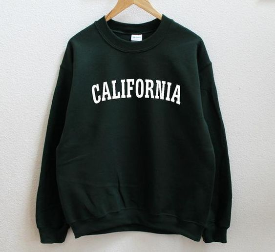 California Graphic Print Unisex Sweatshirt DV01