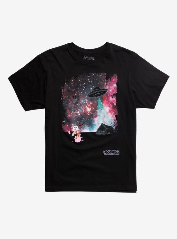 Courage The Cowardly Dog UFO T-Shirt DV01