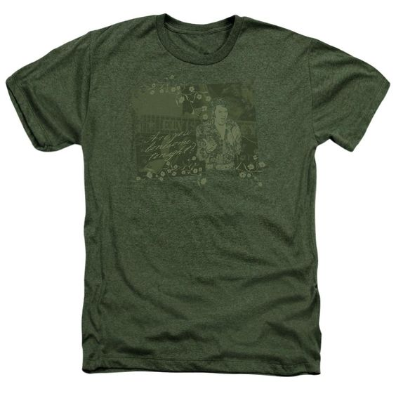Elvis Presley Heather T-Shirt Lonesome Tonight Military Tee DAN