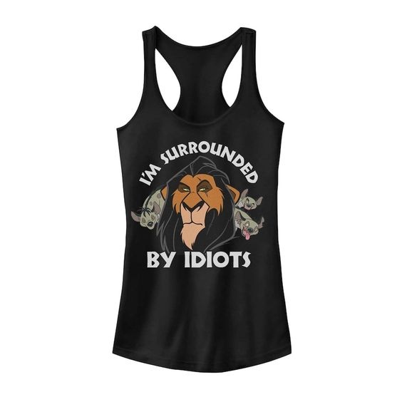 Juniors Lion King Surly Scar Surrounded Tank Top DV01