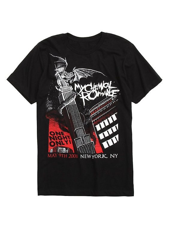 My Chemical Romance NYC Dragon Black T-Shirt DV01