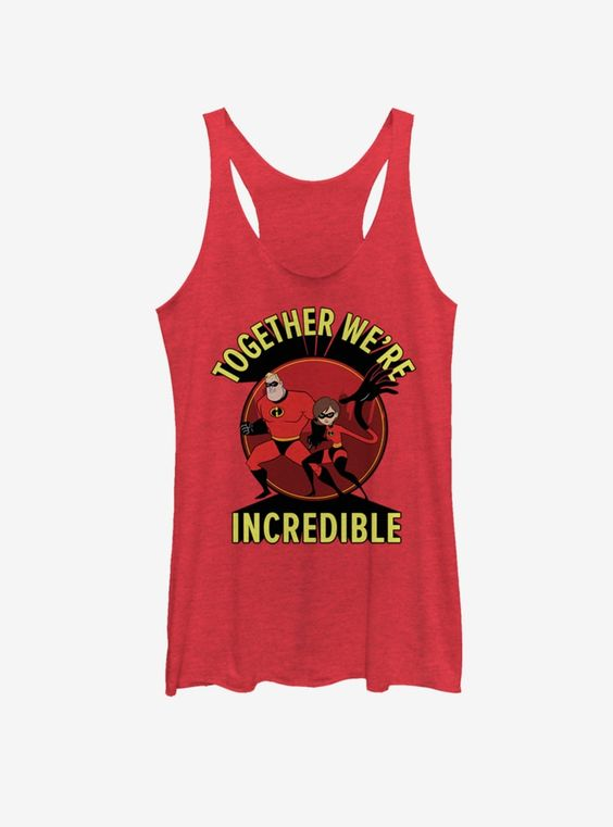 Pixar The Incredibles Together Incredible Girls Tank Top DV01