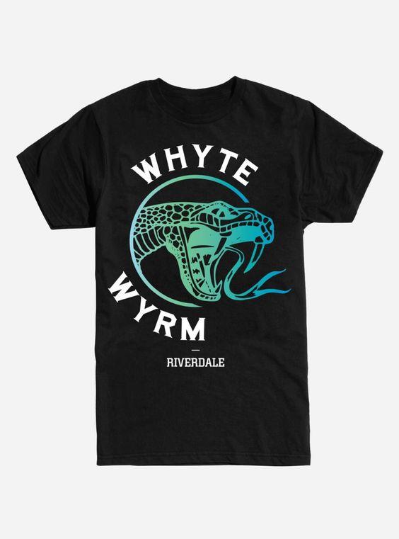 Riverdale Whyte WYRM Black T-Shirt DV01