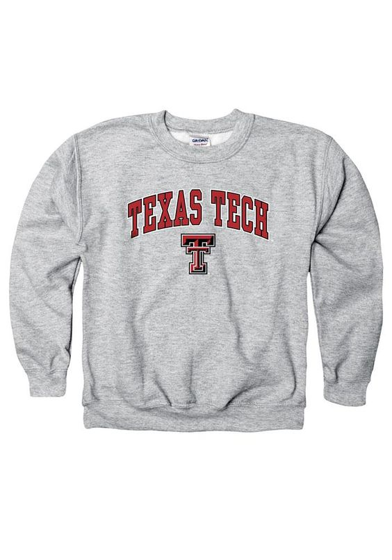 Texas Tech Red Raiders Youth Grey Sweatshirt DV01