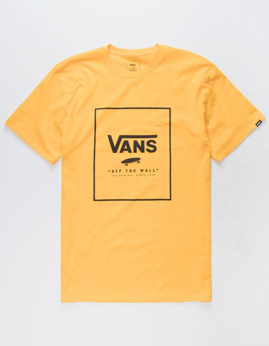 VANS Boxed In Gold Mens T-Shirt DAN