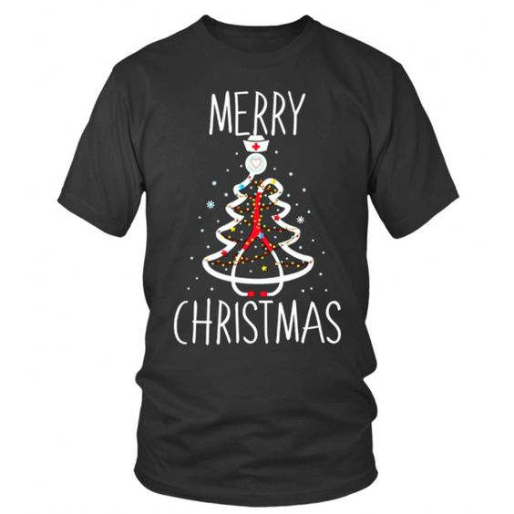 Christmas Stethoscope T Shirt SR01
