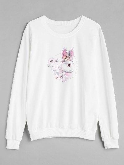Faux Pearl Rabbit Sweatshirt FD01
