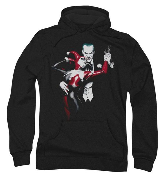 Harley Quinn and Joker on Black HOODIE AV01
