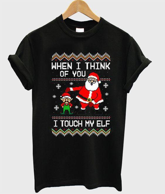 I Think Of You Christmas T-Shirt SR01