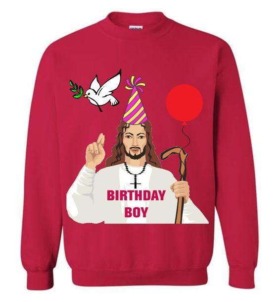 Jesus Birthday Christmas Sweatshirt AZ