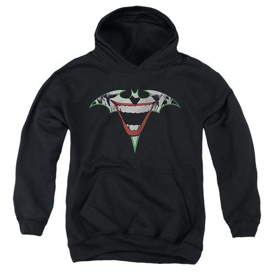 Joker Bat Logo Black Hoodie AV01