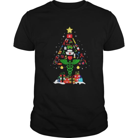 Nurse Christmas tree T Shirt SR01