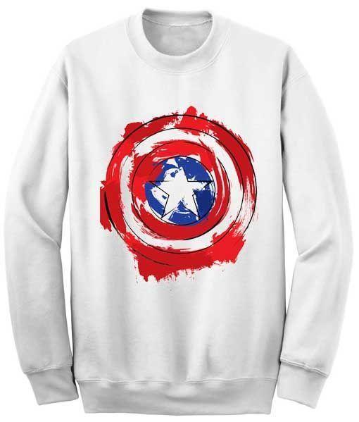 Captain America Shield sweatshirt SR21N