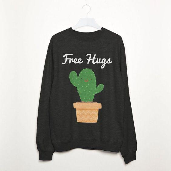 Free Hugs Cactus Sweatshirt N14ER