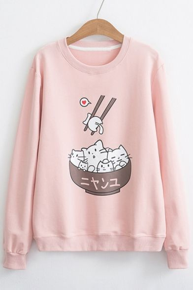 Cat In Bowl Sweatshirt AZ3D