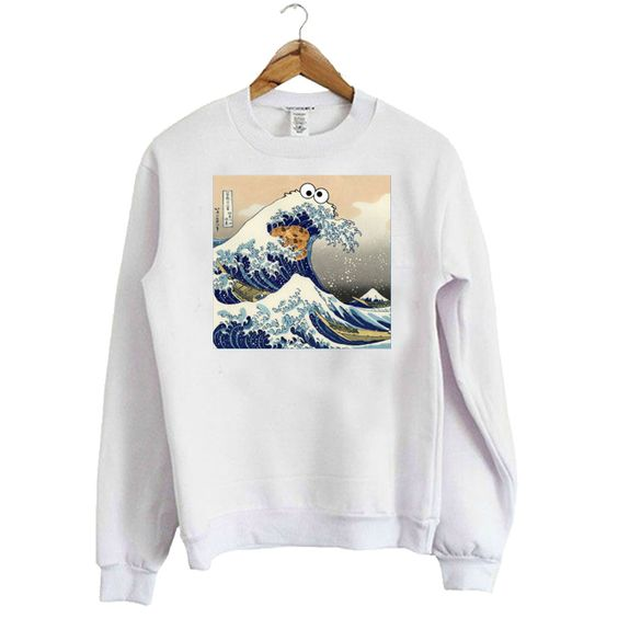 Cookie Monster Wave Sweatshirt AZ9D