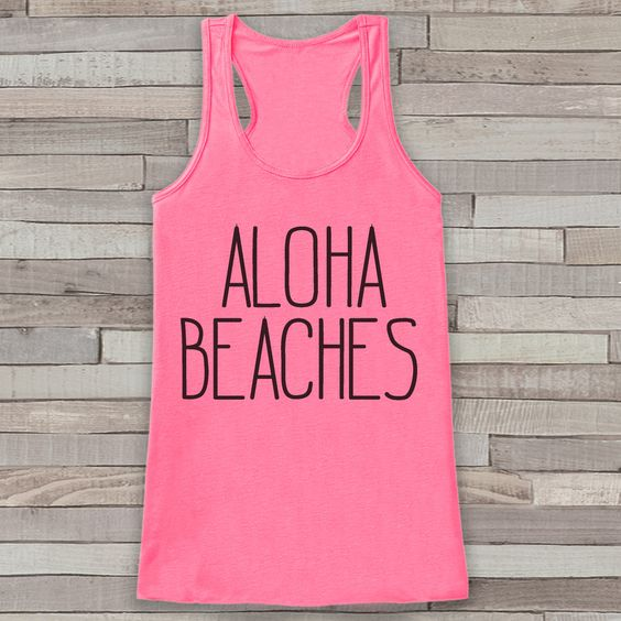 Aloha Beaches Summer Tank Top SR12J0