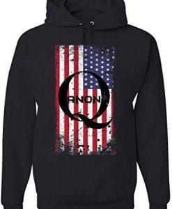 American QANON Flag Hoodie ND6F0