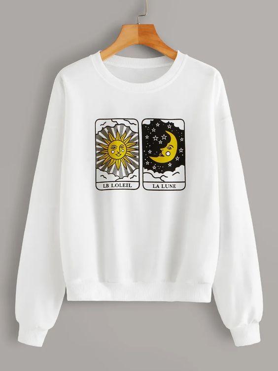 Sun and Moon Sweatshirt SP14A0Sun and Moon Sweatshirt SP14A0