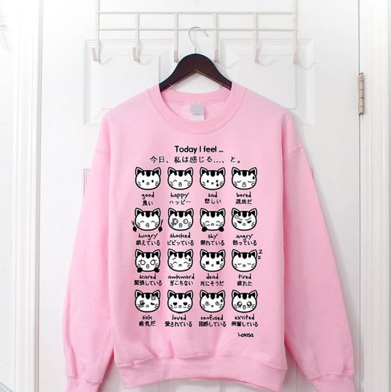 Cute Face Cat Sweatshirt FD29JN0