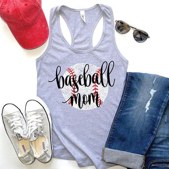 Baseball Mom tanktop FY29JL0