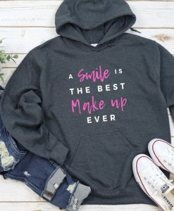 A SMILE is the best MAKE UP Hoodie RF26AG0