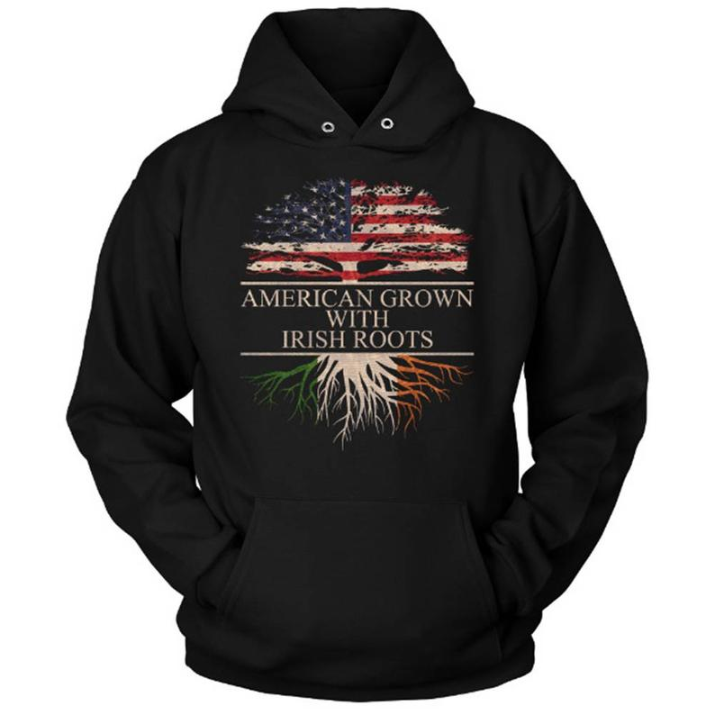 American Grown With Irish Roots Hoodie RF26AG0