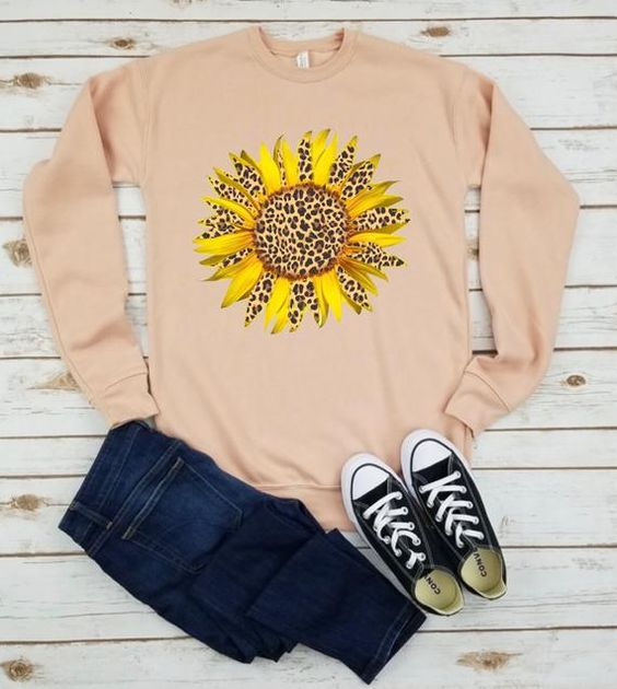 Cheetah Sunflower Sweatshirt YN20AG0