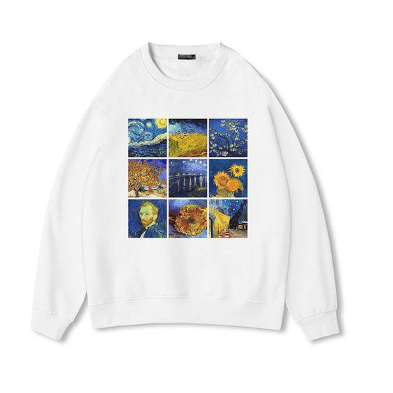 Van Gogh art Sweatshirt YN20AG0