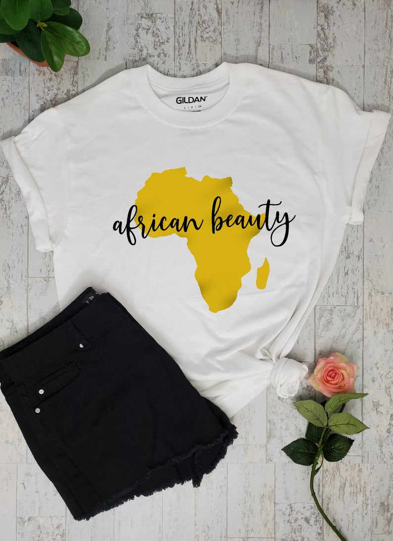 African Beauty T-shirt ZL1S0